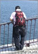 琵琶湖で釣り