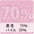 パイル濃度70% パイル30%